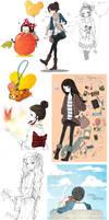 SKETCH DUMP 03 by cartoongirl7