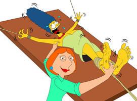 Lois Tickle Revenge on Marge by MikeTickler