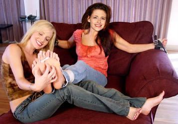 Kristen Stewart Tickle Fake by MikeTickler