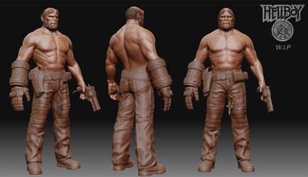 Hellboy W.I.P by 3dsquid