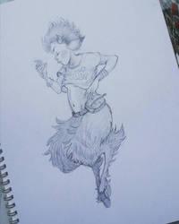 Sketchbook - faun girl by reneenault