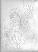 Elsa The Snow Queen (Pencil) by Jonny-Aleksey