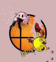 Super Smash Bros: Kirby and Pac-Man by Jonny-Aleksey