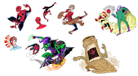 Classic Spider-Man Sketches by Jonny-Aleksey