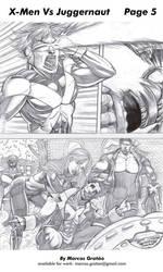 X-Men vs Juggernaut 05 by marcosgratao