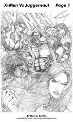 X-Men vs Juggernaut 01 by marcosgratao