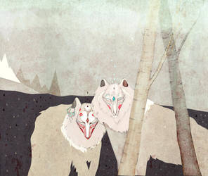 White Wolves by RedGella