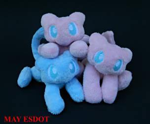 Mew Pile: Custom Handmade Pokemon Beanies by MayEsdot