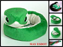 Custom Python Snake Plush Beanie by MayEsdot