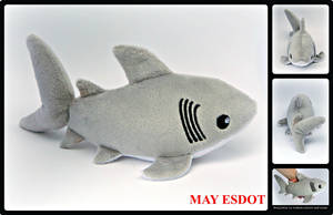 Great White Shark Beanie Plush by MayEsdot