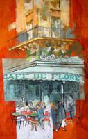 Cafe de Flore I by rpintor