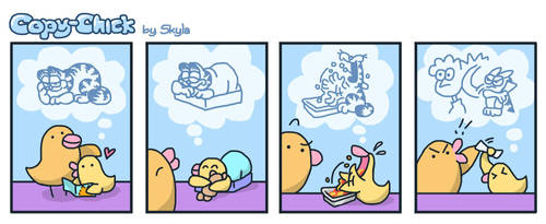 Copy-Chick feat. Garfield by SkylaComics