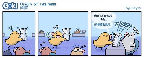 Goki - Origin of Laziness by SkylaComics