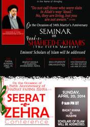 SHAHEED-e-KHAMIS and SEERAT ZAHRA by abedy