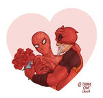 Spideypool by prettyoddchild