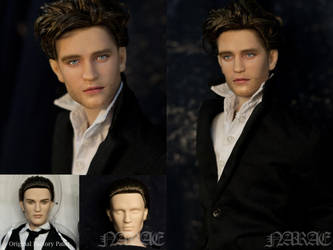 OOAK [Robert Pattinson] Repaint Portrait Doll by naraedoll