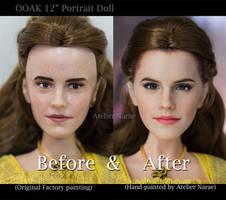 Repainted OOAK Emma Watson Portrait Doll by naraedoll