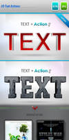 3D Text Style Actions by imonedesign