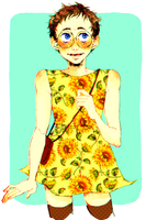 Sunflower sunboy !!! by gloomy-pandi