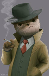 Detective Otterson by ZithKalin