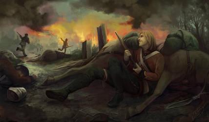 Losing the Battle by artsangel