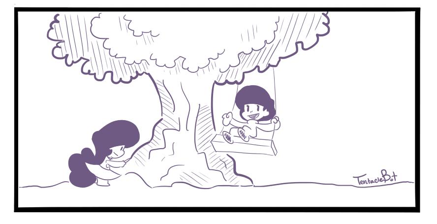 Tree Swinging by WakkoDemonBoy