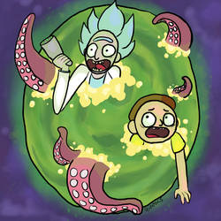 RICK AND MORTY 1000 YEARS by RonnieradkeFIRFIRFIR