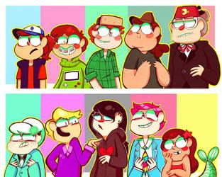 Gravity Falls genderswaps by Caramelkeks