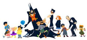 Batdad and Kids by Dulciole