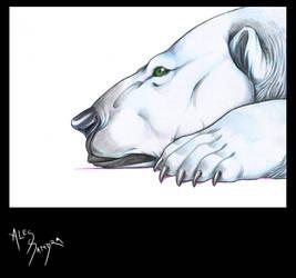 Lonely polar bear by AlessandrArt
