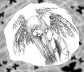 Cyberpunk angel by AlessandrArt