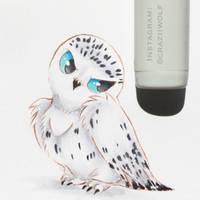 Snowy Owl by craziiwolf