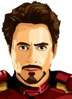 Tony Stark Vector by predator-fan