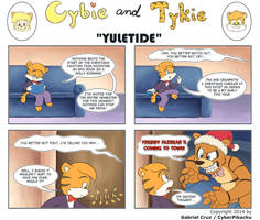 Cybie and Tykie - Yuletide by CyberPikachu