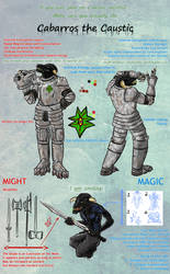 Ref Sheet: Cabarros the Caustic by TheTinkerThinker
