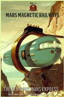 Mars Magnetic Railways by Aste17