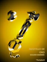 martillo de oro -golden hammer- by portadorX