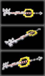 ZeroOne Keyblade (3D) by portadorX