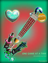 One Game at a Time Keyblade by portadorX