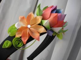 Flower headband by bloodtsunami