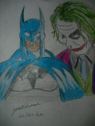 Batman and Dark Knight Joker...-Skoob 12/30/12 by SkoobyForever