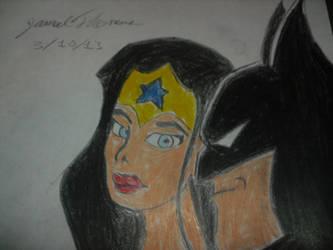 Wonder Woman and Batman - 3/10/13 by SkoobyForever