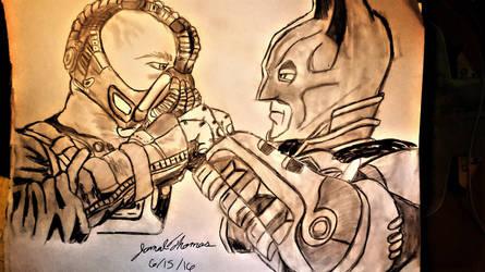 Bane VS Batman -SkooB 6/15/16 by SkoobyForever