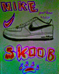 Nike Air Force 1's -SkooB 4/8/18 by SkoobyForever
