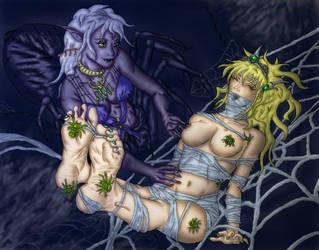 Princess Riana in Drider Web by PsylisiaDragoon