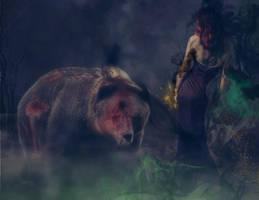 Artia and Bear by hollownikita