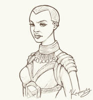 Okoye from Black Panther by Kapongdy