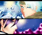 [Collab with Ajisai]  Toshiro and Byakuya by Saelyaz