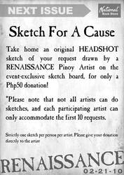 SKETCH FOR A CAUSE by manilacomic-con