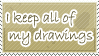 Drawings Stamp by WetWithRain